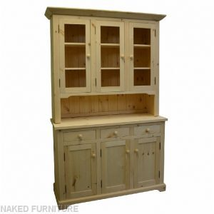 Solid Wood Farmhouse Buffet and Hutch-customized-03