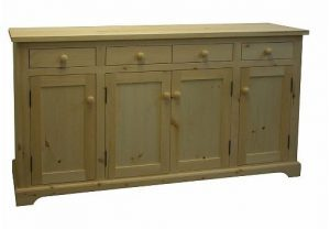 Solid Wood Farmhouse Buffet and Hutch-customized-02