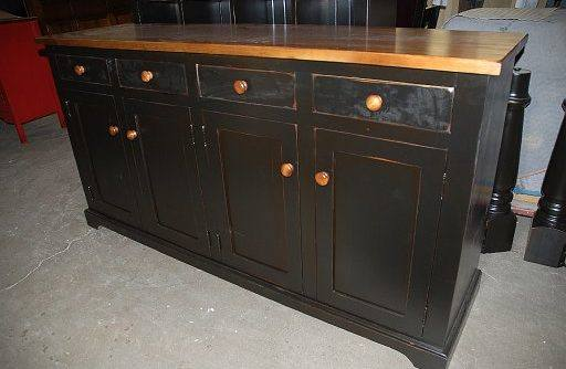 Solid Wood Farmhouse Buffet and Hutch-customized-07