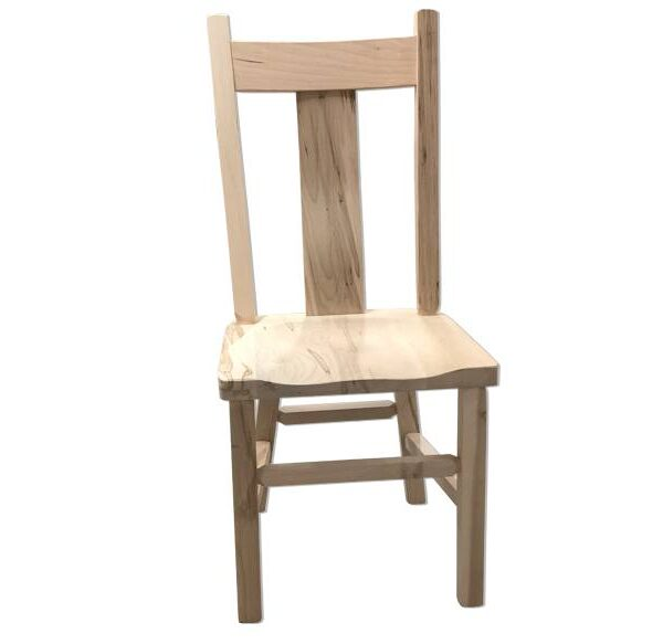 Wide Slat Back Chair-solid wood-handcrafted