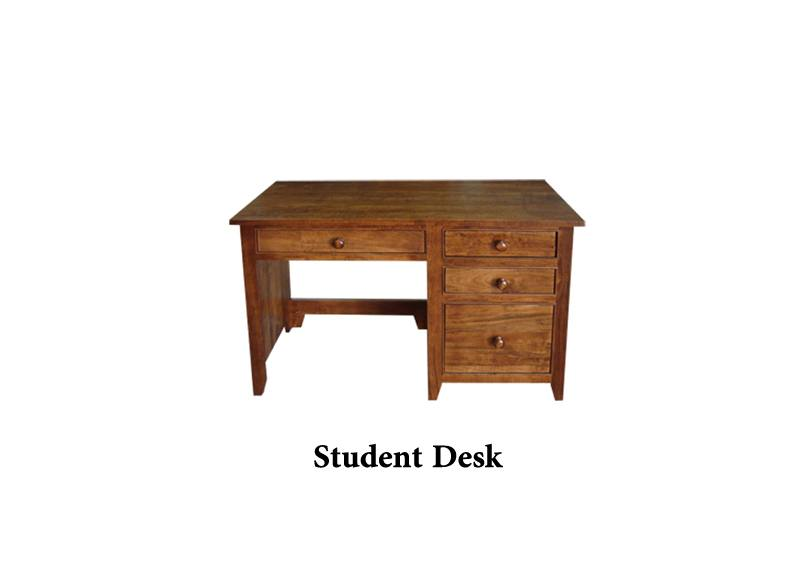 solid wood A-Series Student Desk
