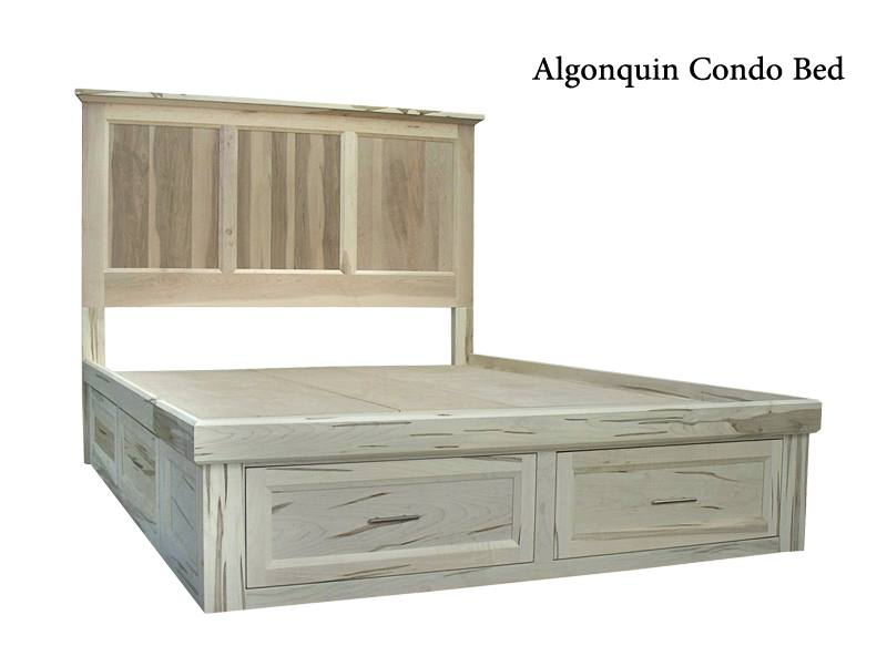 solid wood storage bed-02