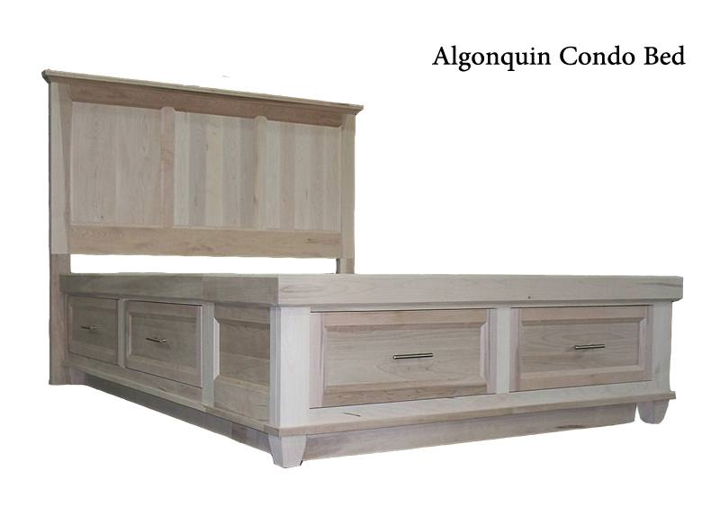 solid wood storage bed-01