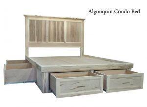 solid wood storage bed-00