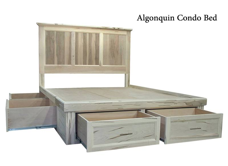 solid wood storage bed-00