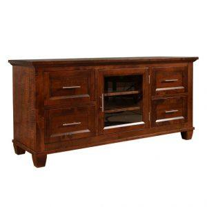 solid wood handcrafted Entertainment Unit Algonquin TV Table-01