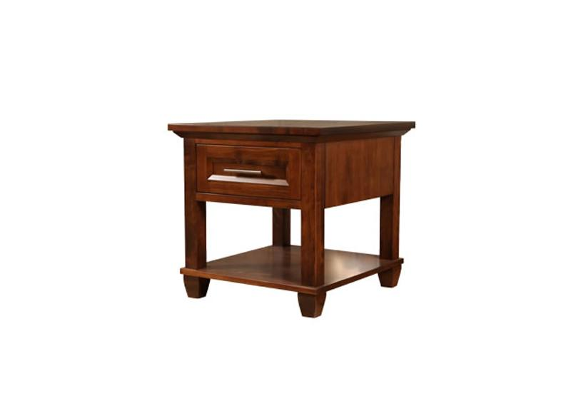 Algonquin solid wood end table-0