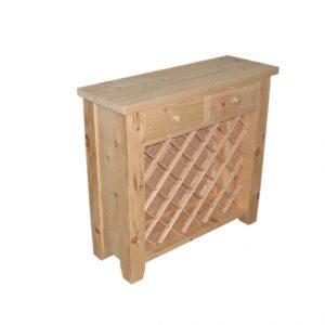 solid wood handcrafted Wine Rack Island-01
