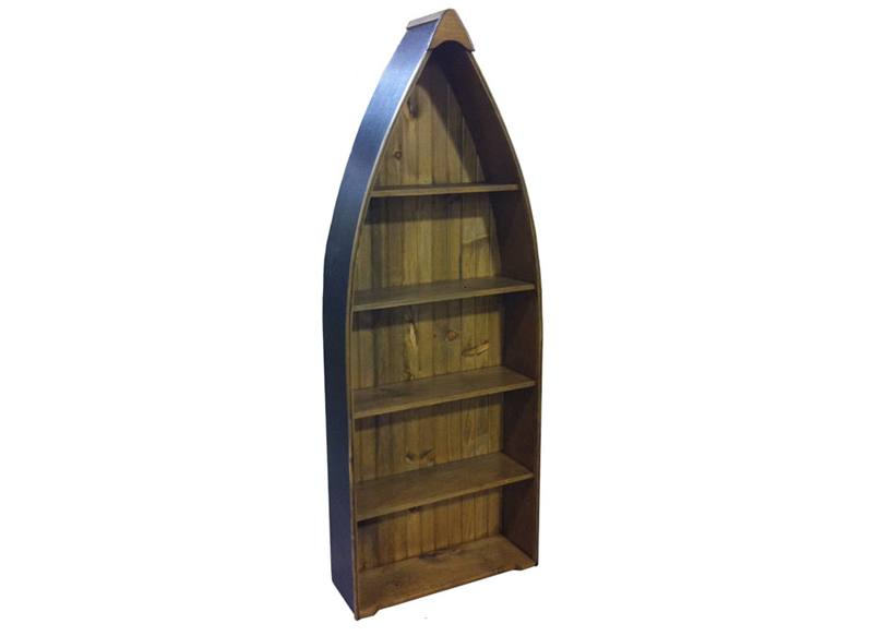 solid wood handcrafted boat bookcase