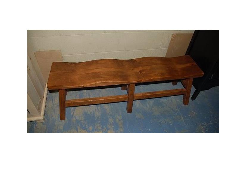 Saddle Solid Wood Bench-04