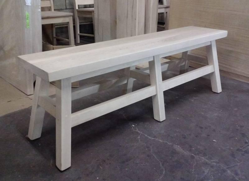 Saddle Solid Wood Bench-03