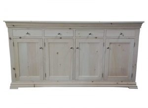 solid wood Chateau Buffet and Hutch-06