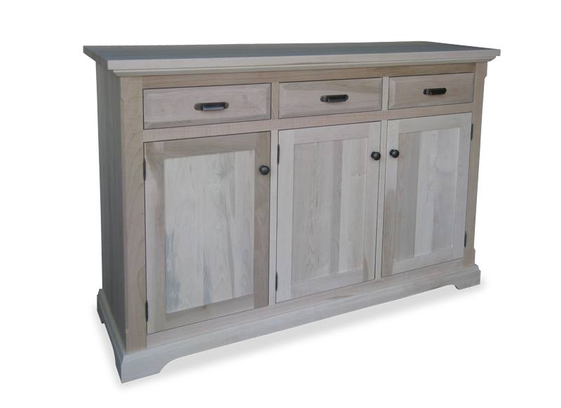 solid wood Chateau Buffet and Hutch-08