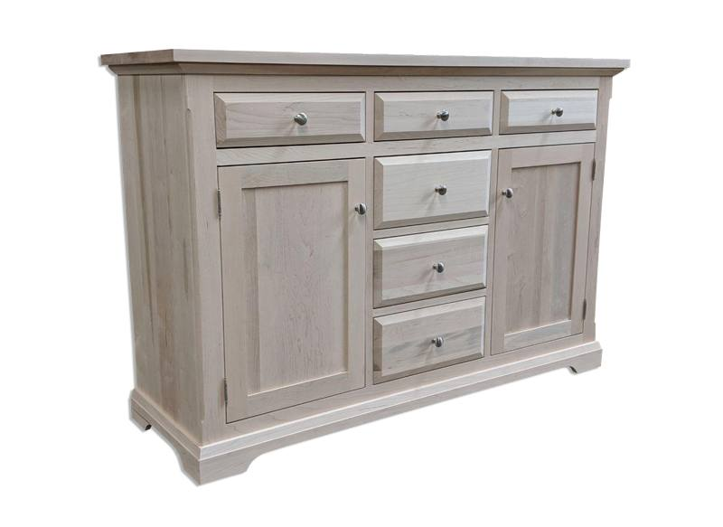 solid wood Chateau Buffet and Hutch-01
