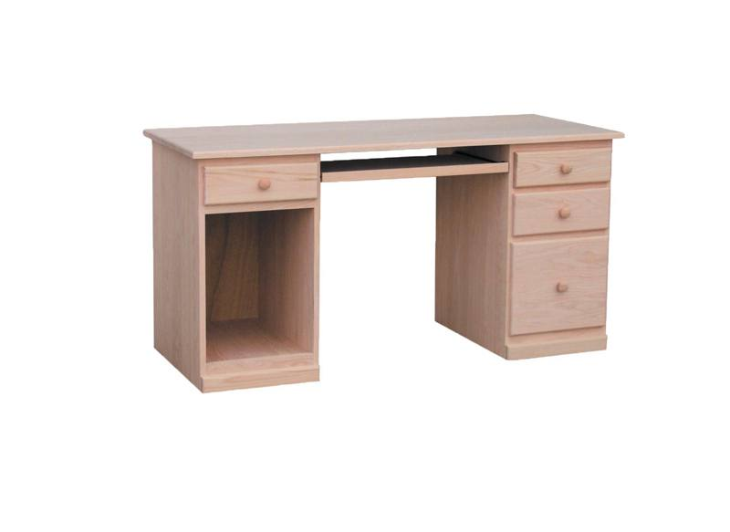solid wood country computer desk