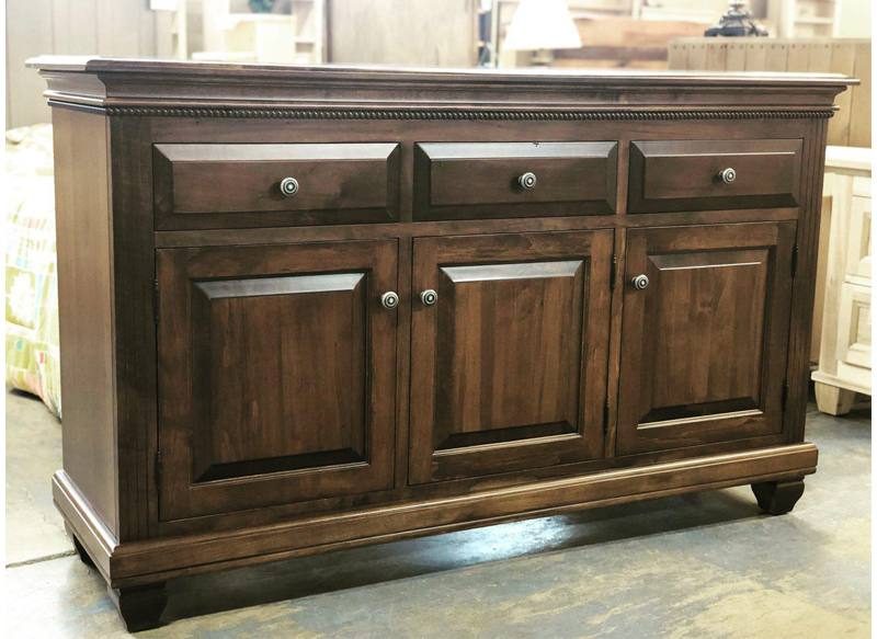 solid wood Florentine Buffet and Hutch -handcrafted-02