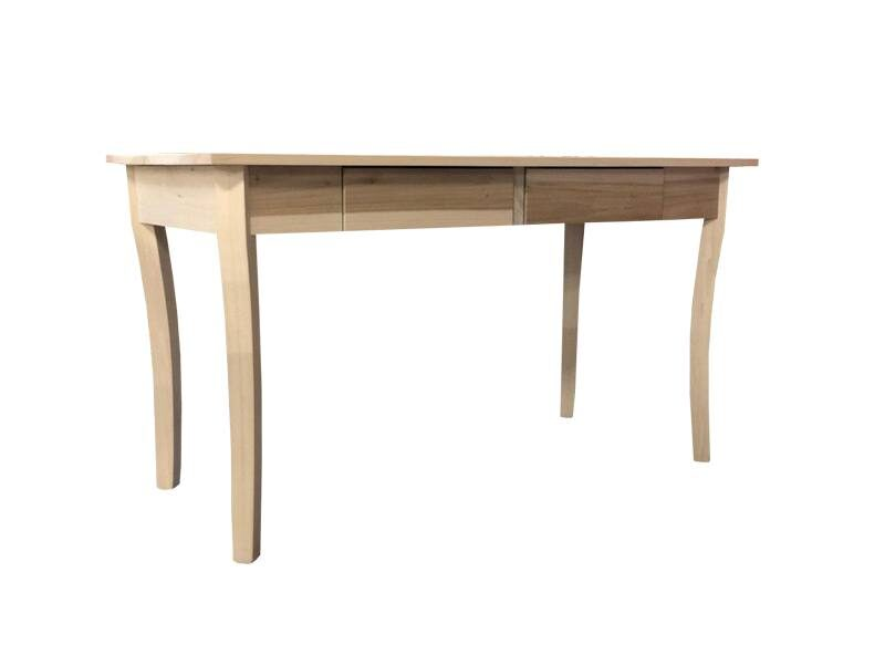 solid wood french curve legs office desk
