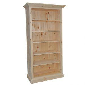 handcrafted solid wood harvest bookcase