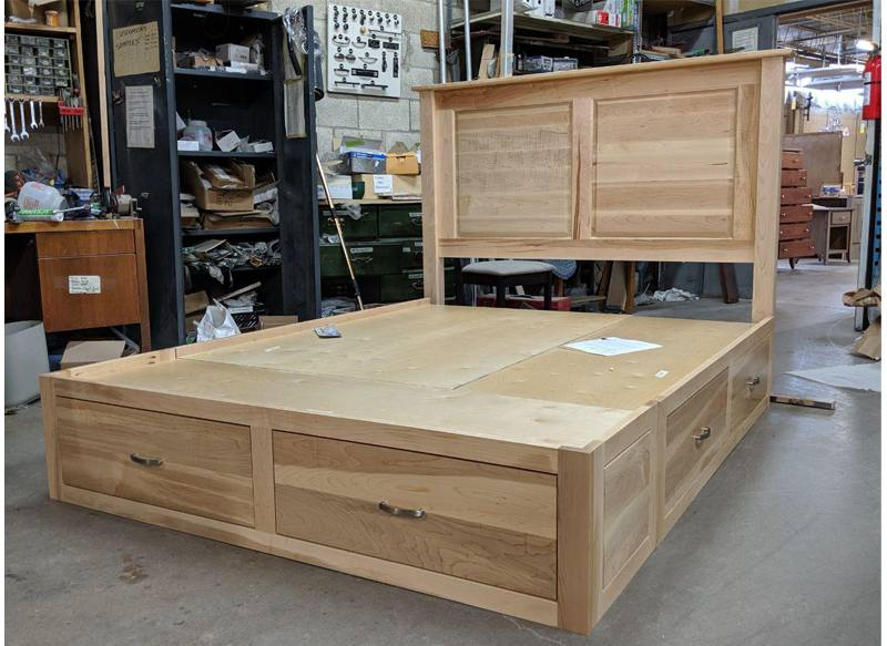 solid wood storage bed-05