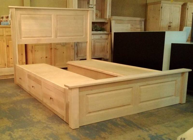 solid wood storage bed-10