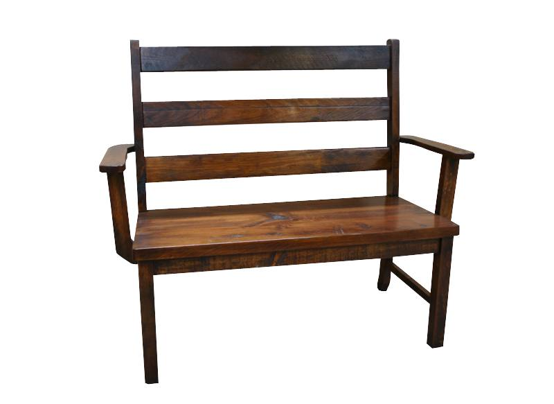 solid wood handcrafted ladder back bench