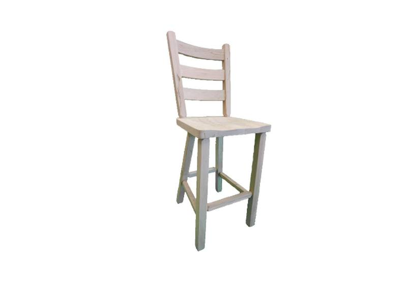 ladder back bar stool-solid wood
