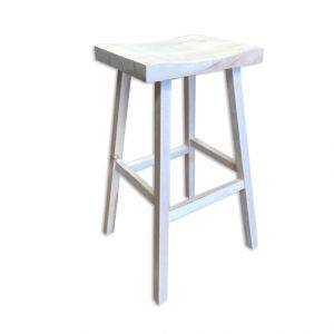 Saddle bar Stool-solid wood - handcrafted
