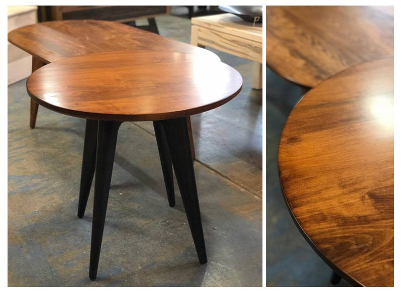 solid wood Mid Century end table