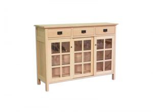 solid wood Mission buffet-handcrafted-03