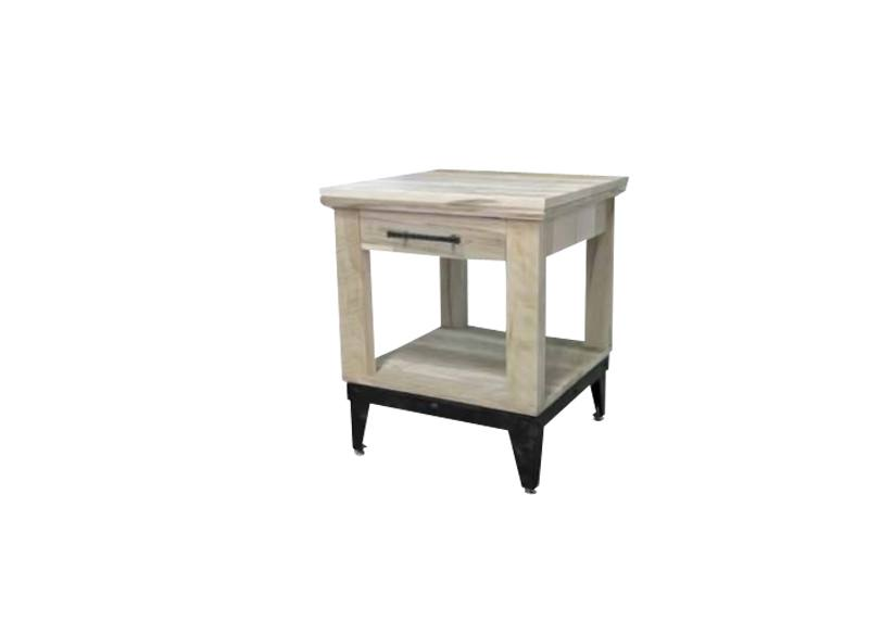 solid wood mission end table