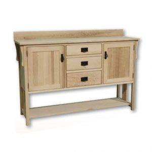 solid wood Mission sideboard-handcrafted-01