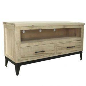 solid wood entertainment mission TV stand-01