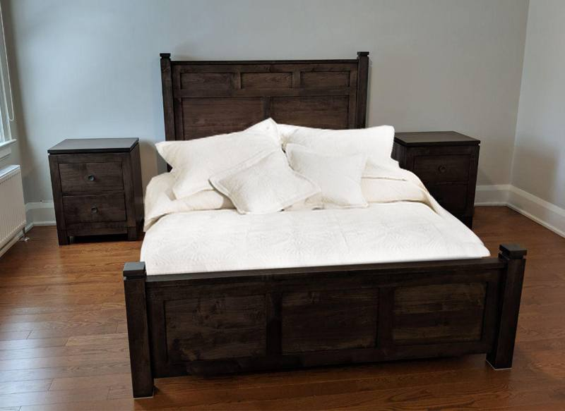 solid wood-Newport modern bed-05