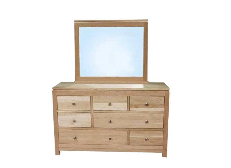 Newport Modern Bedroom Set-solid wood dresser