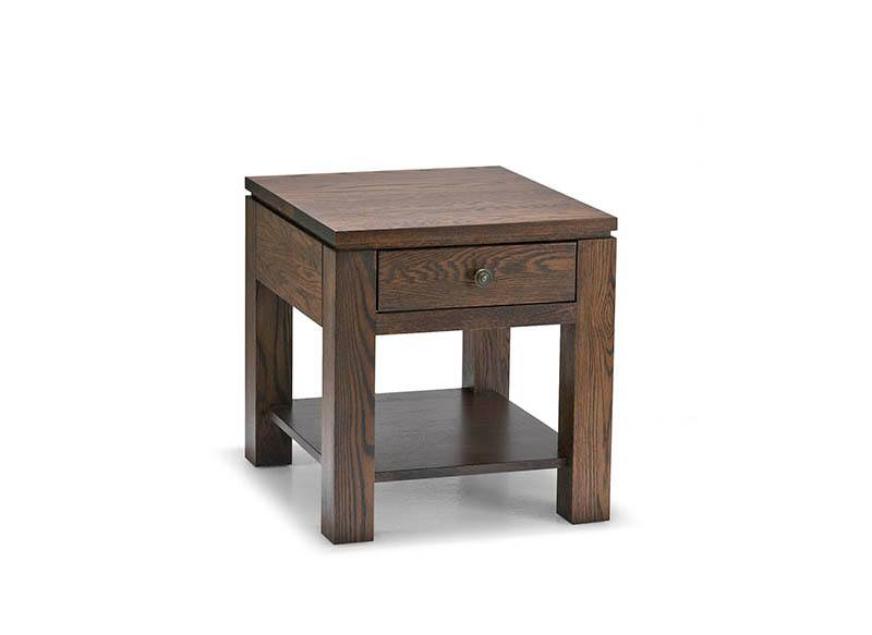 solid wood newport modern end table
