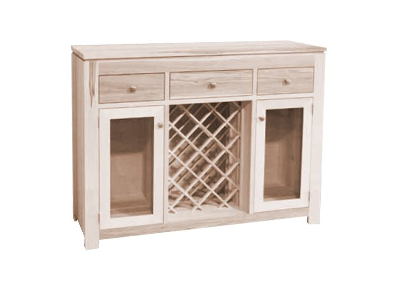 solid wood newport Modern Buffet and Hutch-handcrafted-08