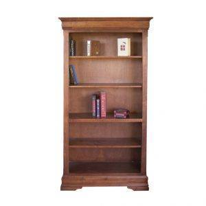 Solid Wood Phillipe Bookcase -handcrafted-01