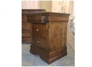 Phillipe bedroom furniture-solid wood nightstand-01