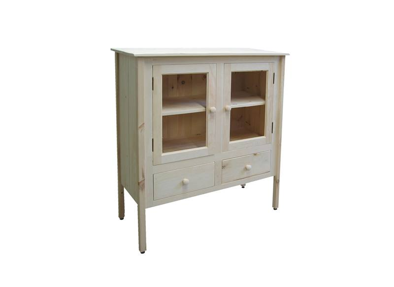 solid wood handcrafted Rustic Buffet and Hutch -01