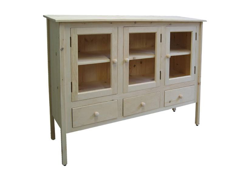 solid wood handcrafted Rustic Buffet and Hutch -02