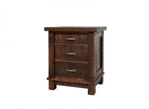Timber Rustic Bedroom Set -solid wood nightstand-01