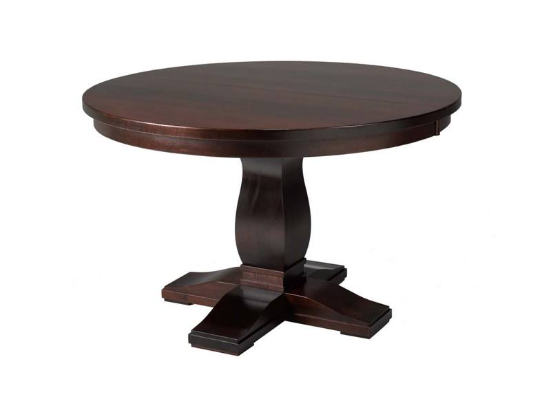 Valencia solid wood round table-001