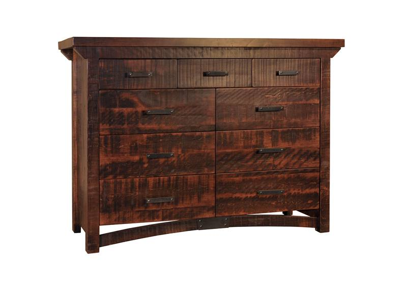 Carlisle Rustic Bedroom Set-solid wood dresser-01