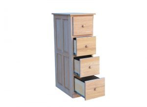 solid wood handcrafted Country File Cabinet