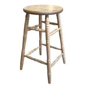 barrel bar stool-solid wood handcrafted-01