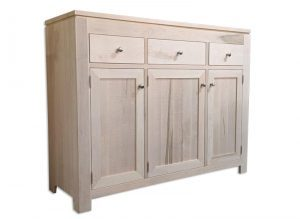 solid wood newport Modern Buffet and Hutch-handcrafted-01