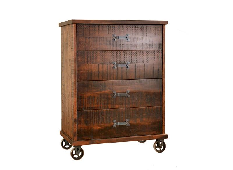 Steampunk Bedroom Case-solid wood chest