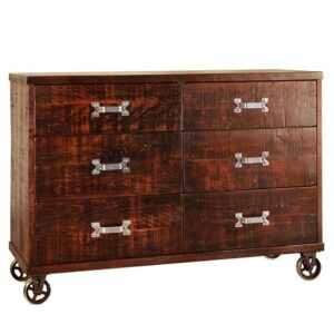 Steampunk Bedroom Case-solid wood dresser