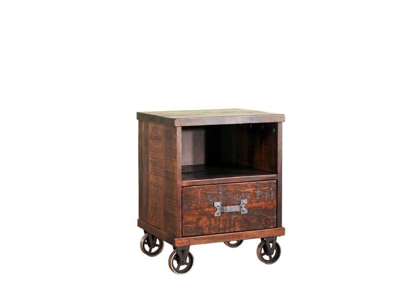 Steampunk Bedroom Case-solid wood nightstand