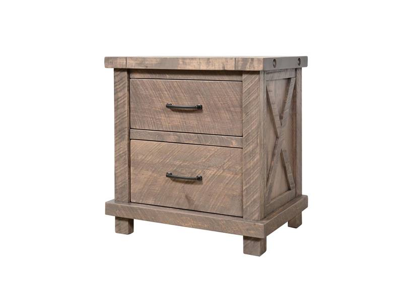 Truss solid wood night stand